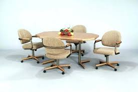 dinette table and chairs with casters caster dining room chairs caster dining room chairs wonderful dining