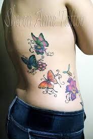 butterfly rib tattoos designs great tattoos