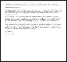 cover letter police officer police officer resignation letter resignation letters livecareer