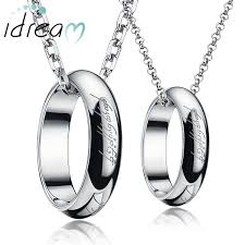 jewelry for idream necklaces lord of the ring engraved circle pendants