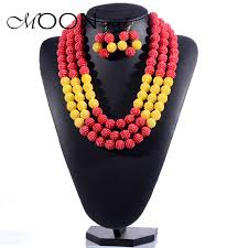 aliexpress bead necklace images Uk aliexpress hot 6 color nigerian wedding bridal african acrylic jpg