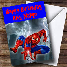 Spiderman Invitation Cards Spiderman Web Personalised Birthday Card The Card Zoo