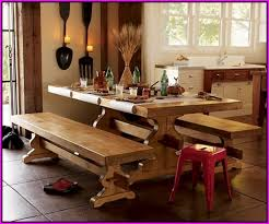picnic style kitchen table picnic bench style kitchen table diy farmhouse and plus stunning art