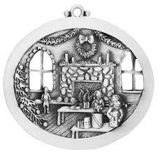 santa u0027s workshop engravable pewter christmas ornament