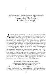 5 community development approaches overcoming challenges
