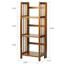 casual home 3 shelf folding stackable standard bookcase u0026 reviews
