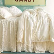 White Ruffle Duvet Classic Ruffle Duvet Cover In Ivory And Nursery Kid Bedding Sets