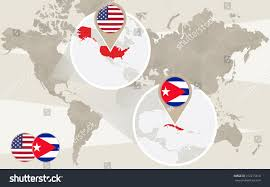 Usa World Map by World Map Zoom On Usa Cuba Stock Vector 272215610 Shutterstock