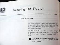 john deere 2020 2120 2140 2440 2630 2640 tractor 240 245 loader