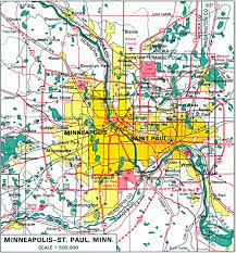 Minneapolis Map Usa by