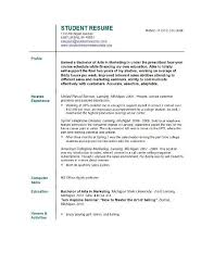 job resume examples for college students job resume examples for