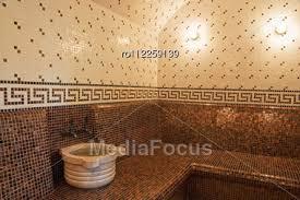 Turkish Bathroom Turkish Bath With Ceramic Tile In Roman Style Stock Photo