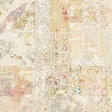 grungy collage of shabby chic vintage wallpapers stock photo