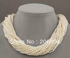 small jewelry necklace images Wholesales designer jewelry 12 row white refinement freshwater jpg