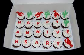 cupcake delivery cactus and lobster anniversary cupcake delivery flickr