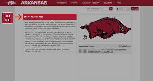 Arkansas Travel Tickets images Student razorback access pass arkansas razorbacks png
