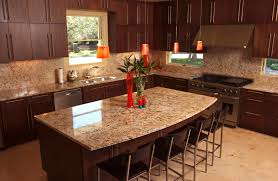 Dark Kitchen Cabinets With Light Granite Kitchen Kitchen Backsplash Ideas Granite Countertops