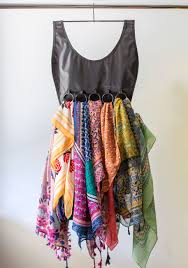 Creative Way To Hang Scarves by Thought This Was A Dress But It U0027s A Scarf Organizer I Think It