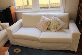Sofa Cushion Slipcovers Sew Paint It How To Make Loose Sofa Covers