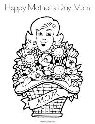 coloring pages mothers day flowers coloring page mothers day mom with flowers coloring page coloring