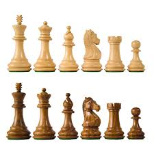quality wood chess pieces with 3 3 4
