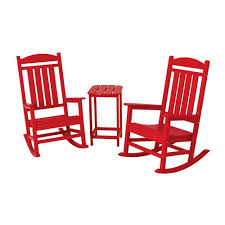 Trex Rocking Chairs Trex Outdoor Furniture Yacht Club Classic White 3 Piece Patio