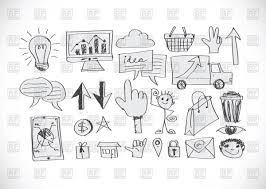 sketch of business icons set vector clipart image 69831 u2013 rfclipart