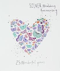 25 wedding anniversary 25th wedding anniversary butterfly heart contemporary lemon sorbet