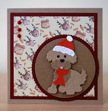 christmas card cottage cutz dog puppy die to purchase my