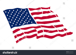 American Flag To Color American Flag Vector Color Illustration Stock Vector 32684425