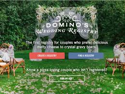 bridal registration create a domino s wedding registry business insider