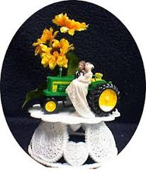 deere cake toppers sunflower country western deere tractor wedding cake topper