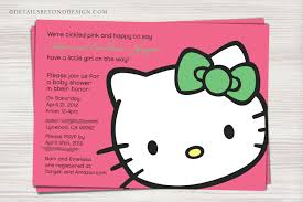 baby shower invitations cute hello kitty baby shower invitations