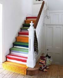 tappeto per scale rainbow stair runner home decorating ideas