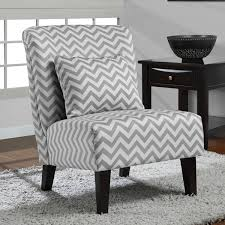 Gray And White Accent Chair Grey White Chevron Accent Chair Overstock Shopping