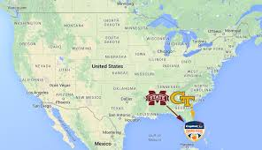 Georgia Tech Map Mapping College Football U0027s 6 Big New Year U0027s Bowl Games Sbnation Com