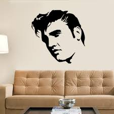 elvis presley large bedroom wall mural art sticker stencil decal elvis presley large bedroom wall mural art sticker stencil decal matt vinyl boys room decor inspirational wall decals kid wall decals from lin8858