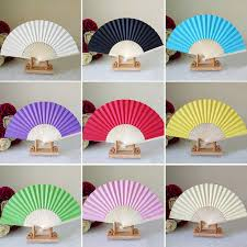 buy paper fans in bulk aliexpress com buy folding hand paper fans pocket folding bamboo
