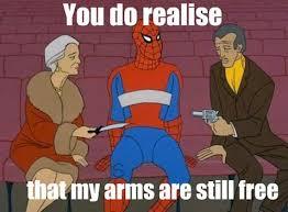 60s Spiderman Meme - 60 s spiderman arms by myscott on deviantart