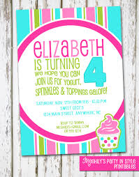 frozen yogurt invite