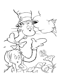 cat hat coloring pages coloring