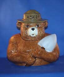 smokey the bear cookie jar kitchen collectibles cookie jars at