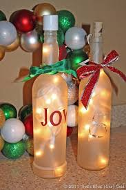 Wine Bottles With Lights That U0027s What Che Said Frosted Luminary Wine Bottles That U0027s