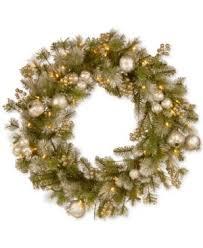 national tree company 30 glittery pomegranate pine wreath with 70