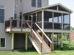 diy metal deck railing delightful outdoor ideas