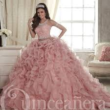 quince dresses two pieces blush quinceanera dresses 2017 cascading ruffles