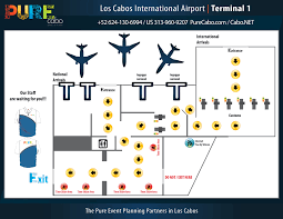 Airport Map Los Cabos Airport Map San Jose Airport Sjd Terminal Maps