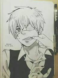 kaneki sketch cute kawaii pretty pinterest tokyo ghoul
