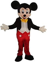 Halloween Mascot Costumes Amazon Mickey Mouse Mascot Costume Size Halloween