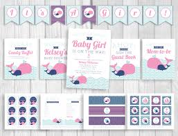 weddings by susan nautical pink and navy blue whales baby shower